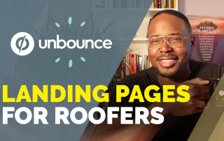 landing page tutorial roofing