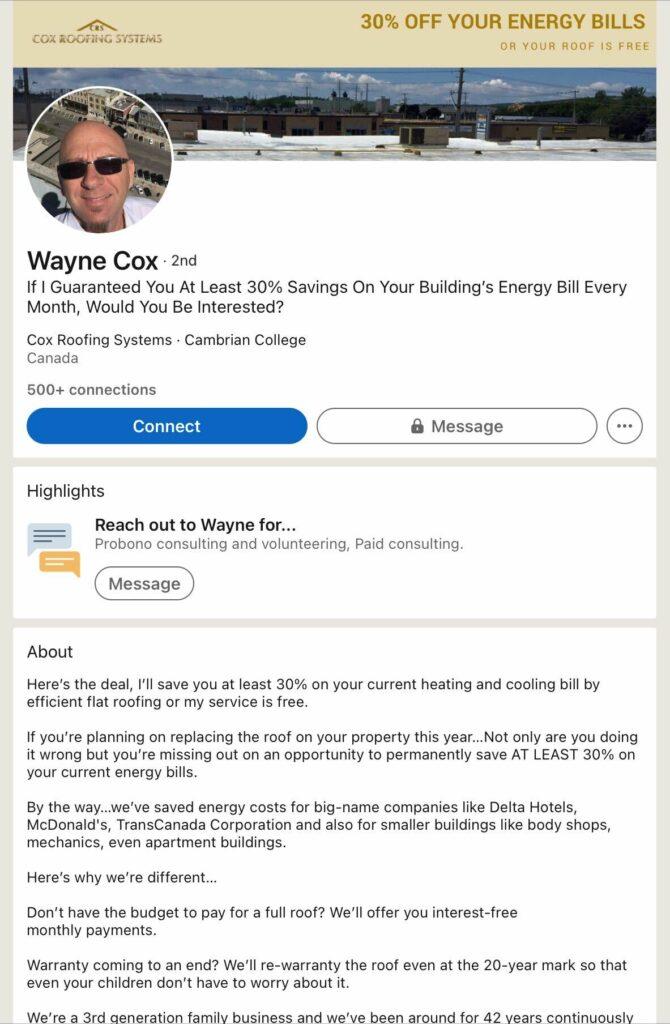 roofer-tips-personal-linkedin-profile